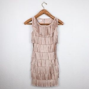 Rinascimento Fringe Dress Blush Pink Sleeveless XS